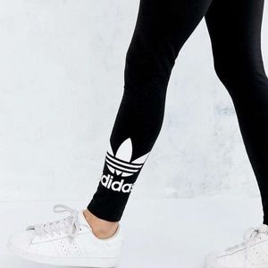Adidas Trefoil XS Black Leggings